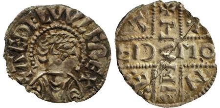 Æþelwulf penny, Cantwareburh mint, Hunred moneyer