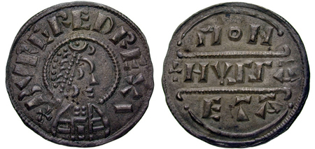 Burgred penny, London mint, Monhussaeta moneyer