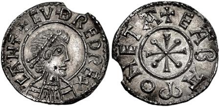 Cuðred penny, Cæntwaraburh (Canterbury) mint