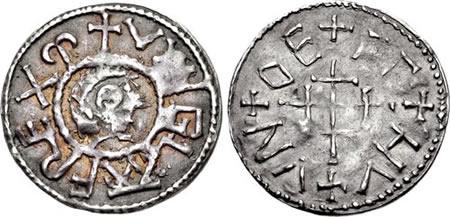 Wiglaf silver penny, London mint, first reign