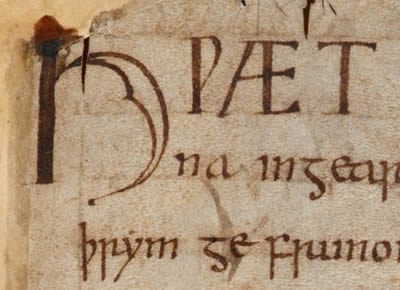 Opening word of Beowulf