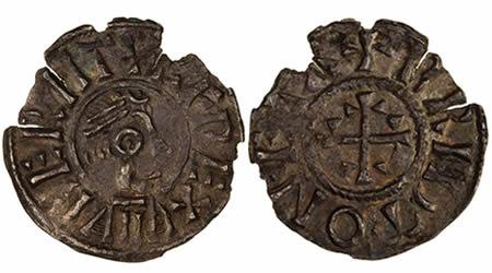 Beorhtwulf penny, Cantwareburh mint, Brid moneyer